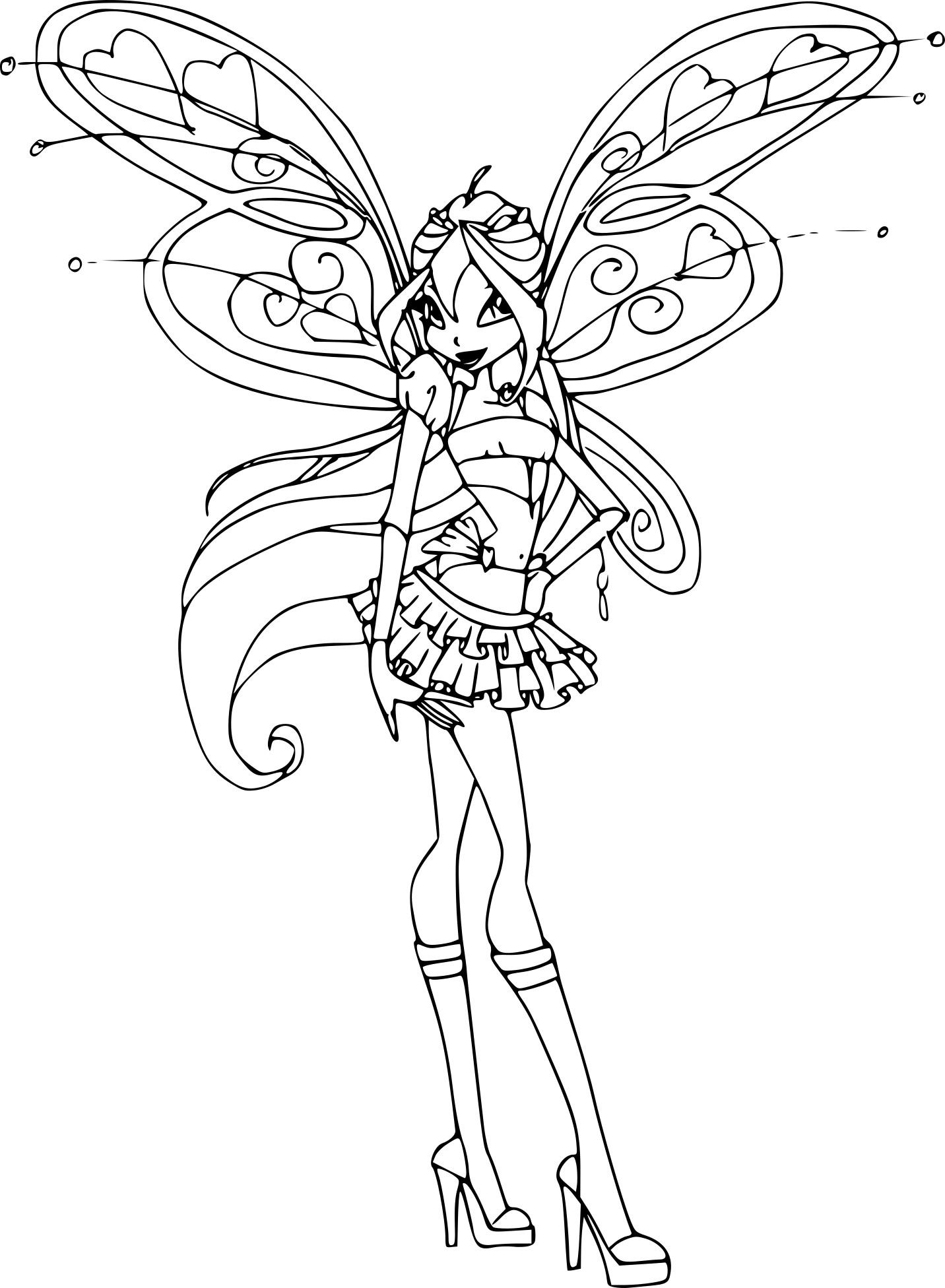 Coloriage bloom believix imprimer - Coloriage winx bloom ...