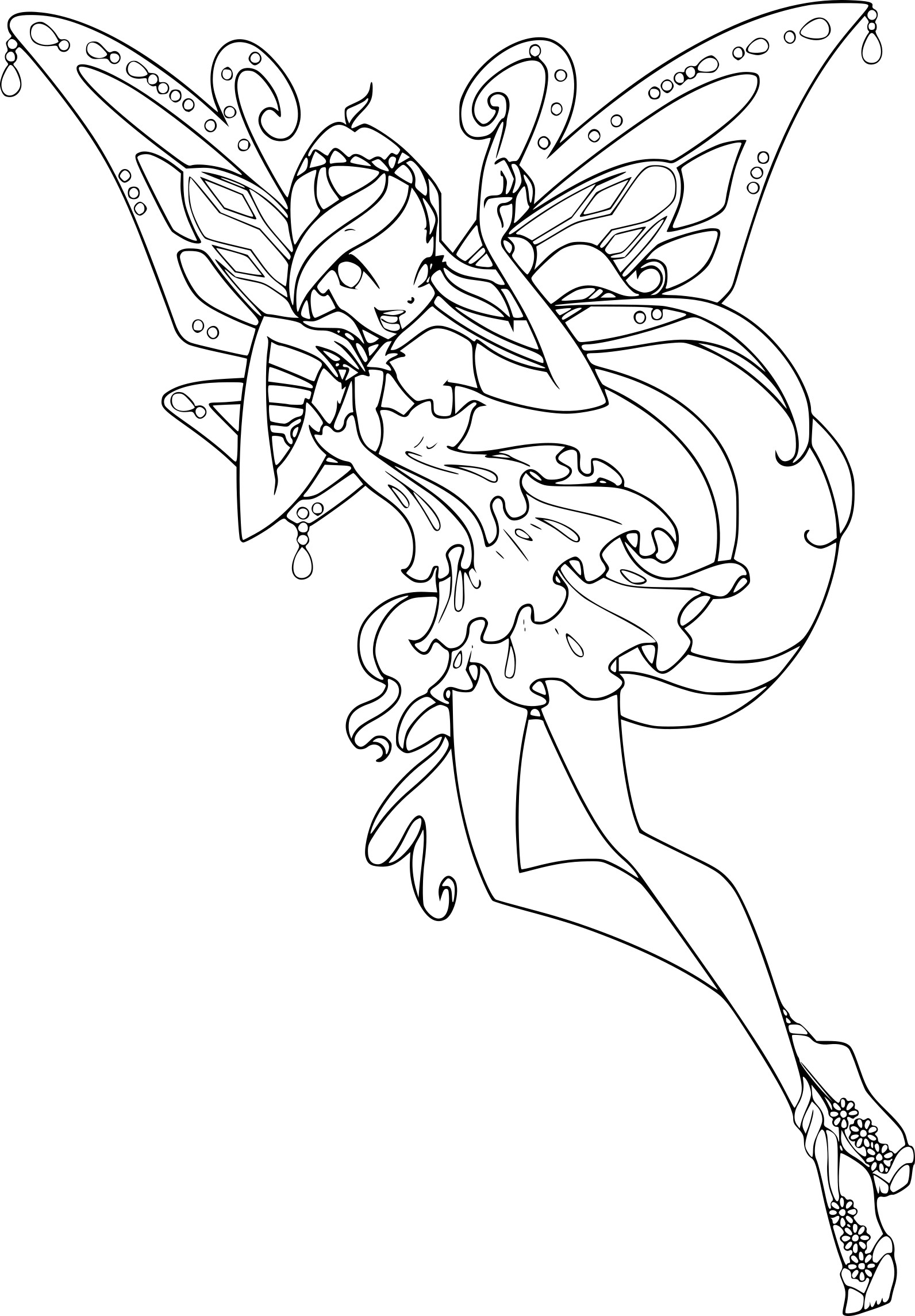 Coloriage Bloom Enchantix à Imprimer