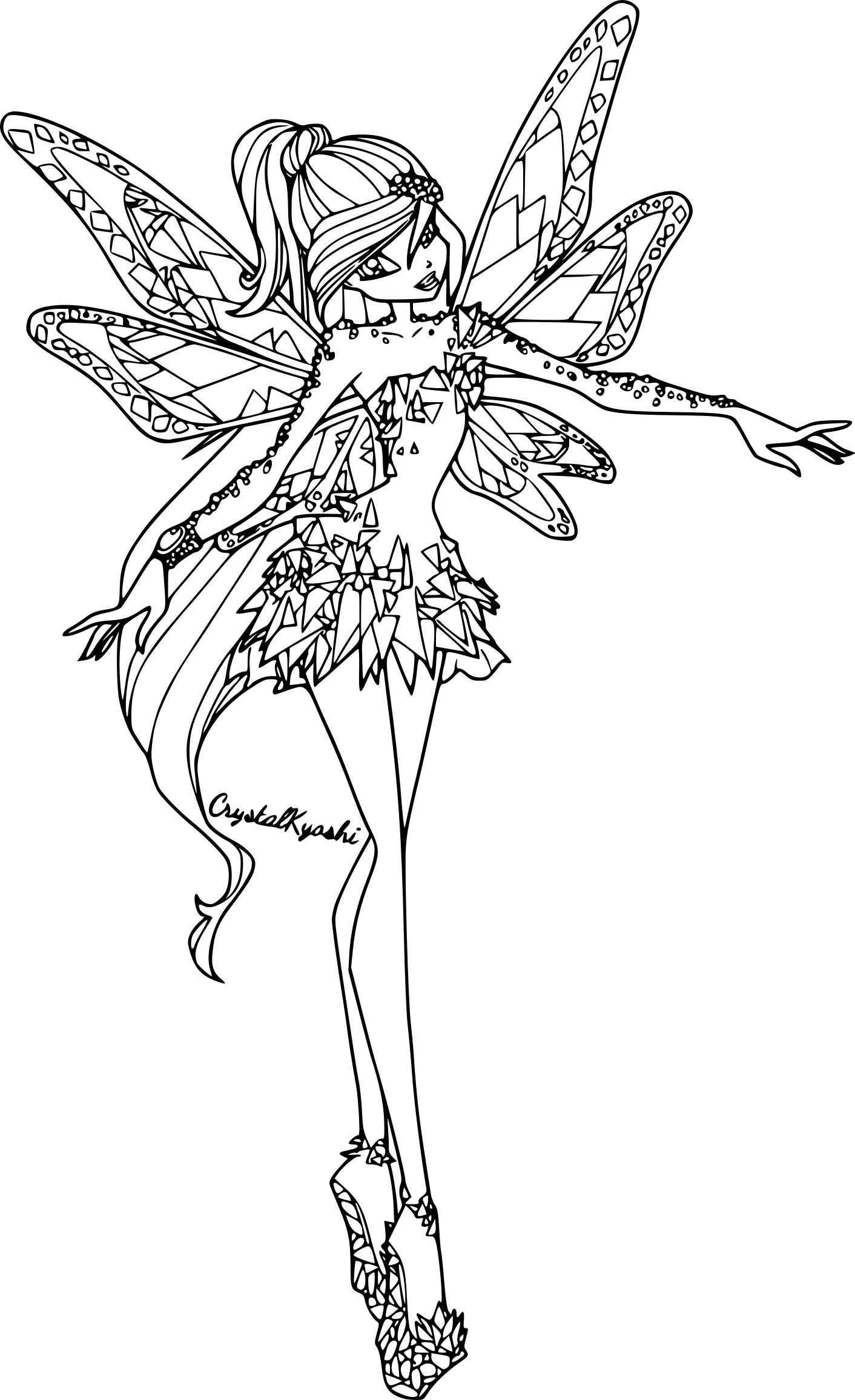 Coloriage bloom tynix imprimer - Coloriage winx bloom ...