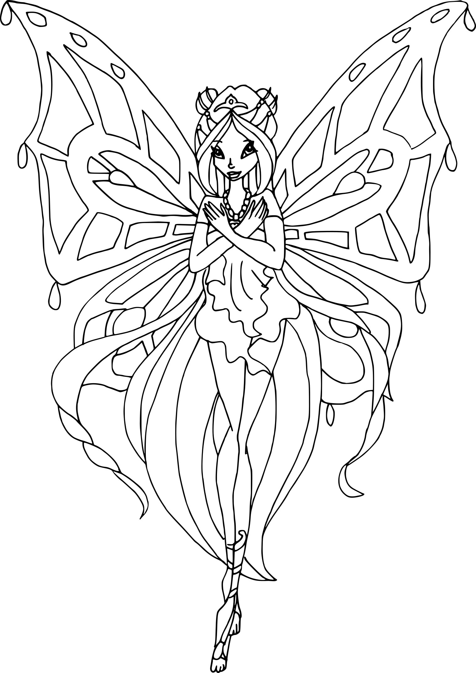 Coloriage flora enchantix imprimer - Coloriage winx bloom ...
