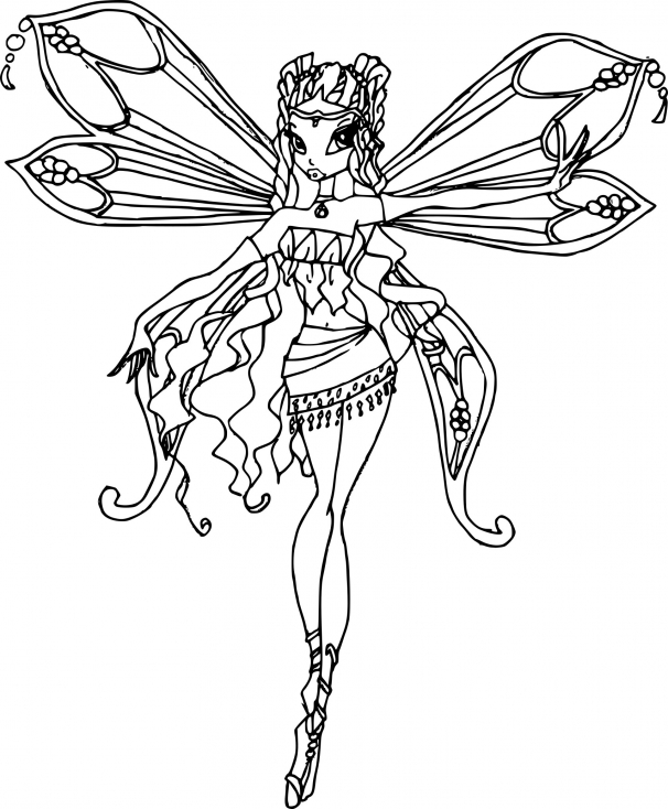 Coloriage layla enchantix imprimer - Coloriage winx bloom ...