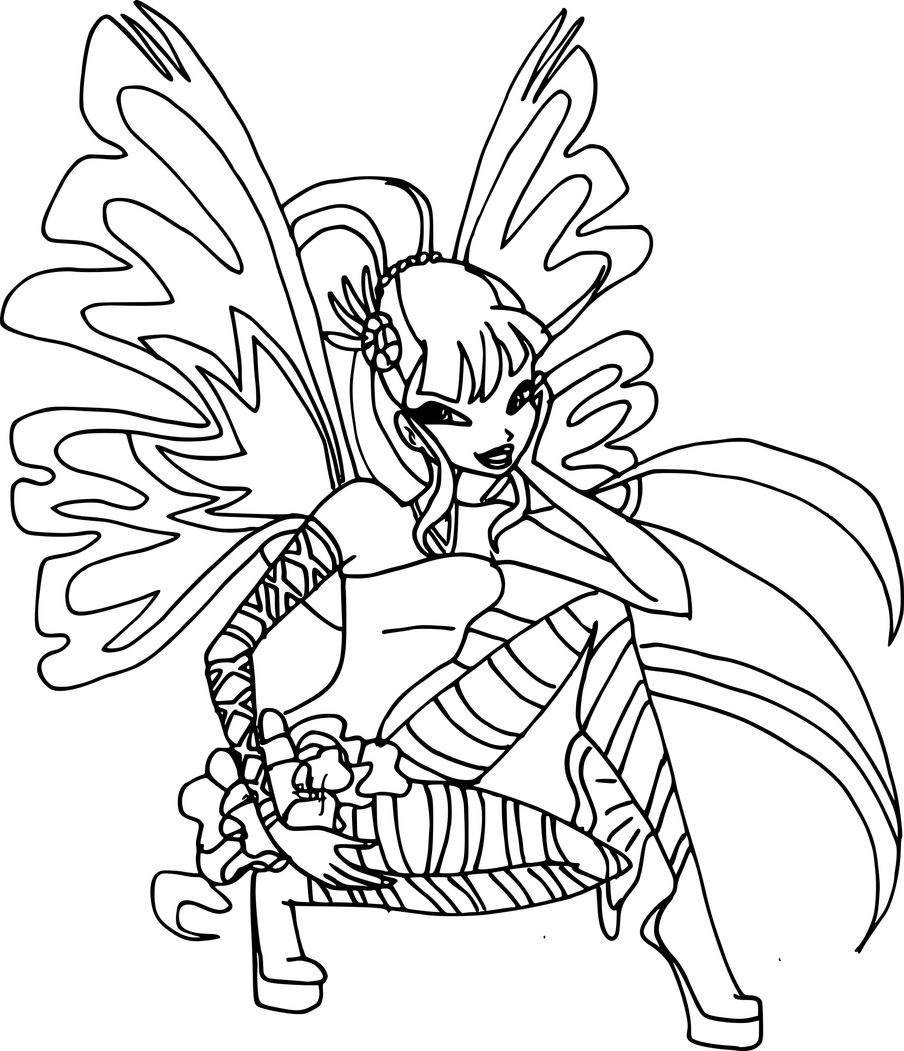 Coloriage musa sirenix imprimer - Coloriage winx bloom ...