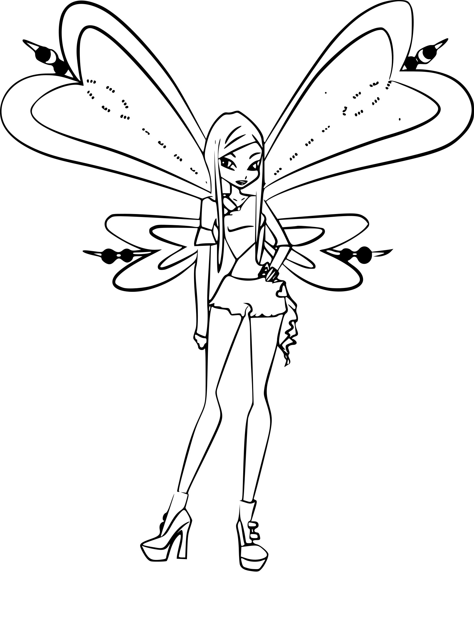 Luxe Dessin A Colorier Winx Bloom