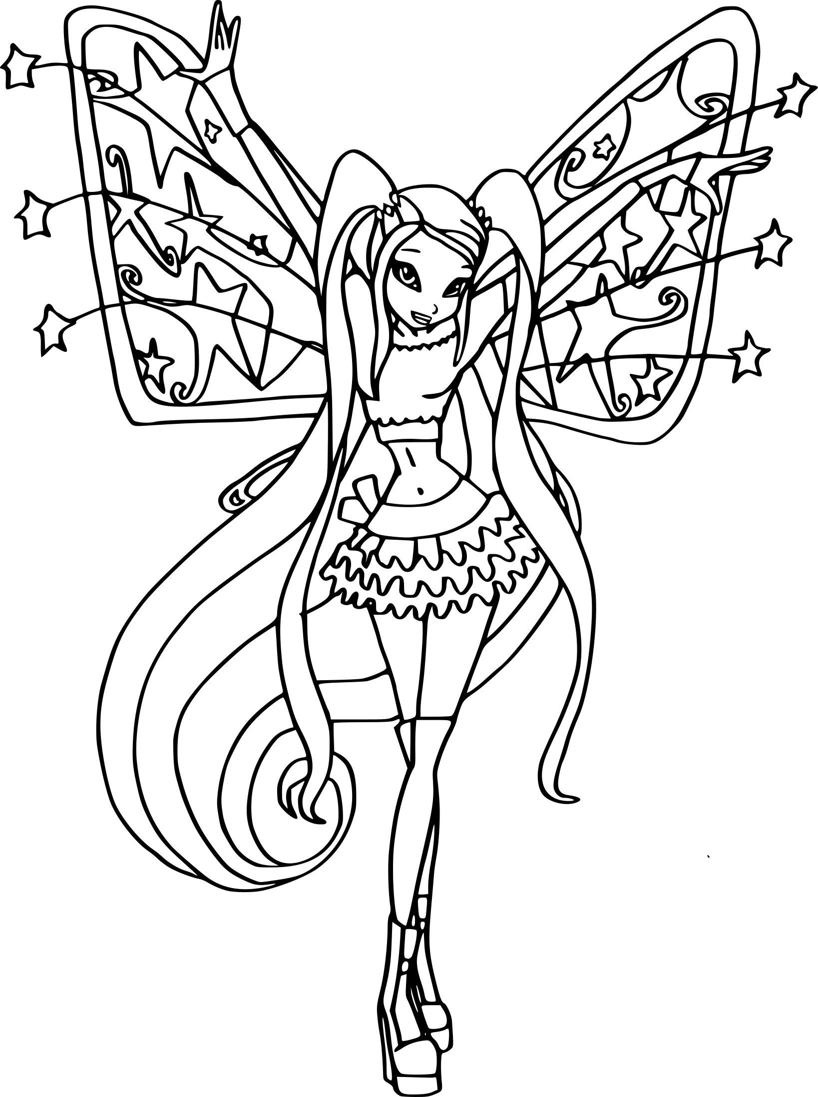 Coloriage stella believix imprimer - Coloriage winx bloom ...