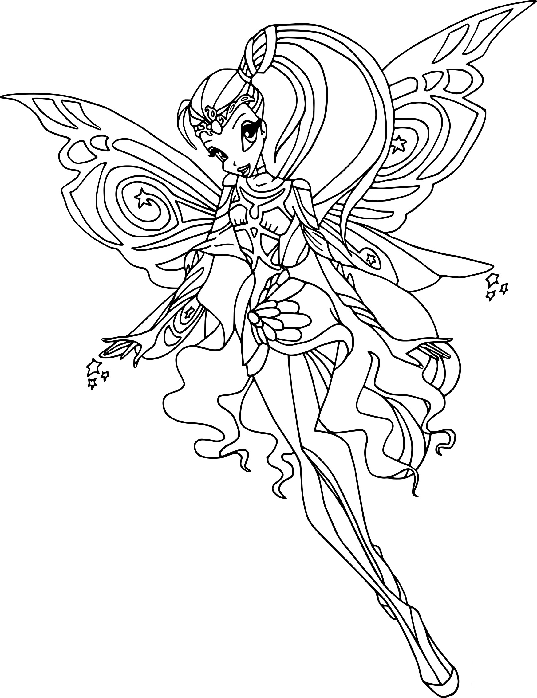 Coloriage stella bloomix imprimer - Coloriage winx bloom ...